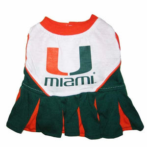 Miami Hurricanes Pet Cheerleader Outfit - CanesWear at Miami FanWear Pet Gear Pets First CanesWear at Miami FanWear