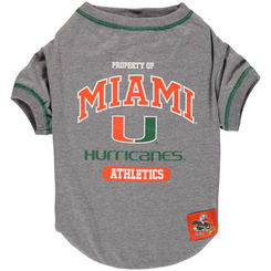 Miami Hurricnaes Pet T-Shirt