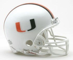 Miami Hurricanes Riddell Mini Helmet - White