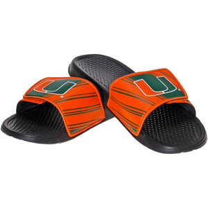 Miami Hurricanes Sport Slider Sandals - Slides