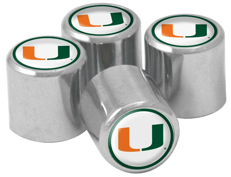 Miami Hurricanes Valve Stem Covers - CanesWear at Miami FanWear Automobile Accessories Stockdale CanesWear at Miami FanWear