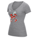 Miami Hurricanes adidas Women's Vintage Sebastian Shirt - Charcoal Grey