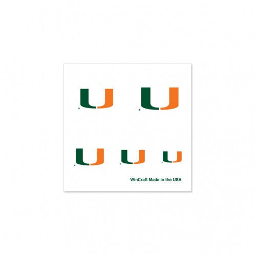 Temporary Fingernail Tattoos 4-Pack - CanesWear at Miami FanWear Tattoos WinCraft CanesWear at Miami FanWear