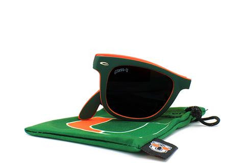 Miami Hurricanes Folding Sunglasses