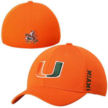 Miami Hurricanes Booster One Fit Hat Orange - CanesWear at Miami FanWear Headwear Top of The World CanesWear at Miami FanWear