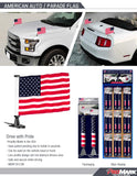 USA Auto Parade Car Flag - Set of 2