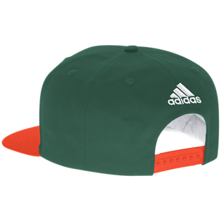 Miami Hurricanes adidas Throwback 2-tone Snap Back