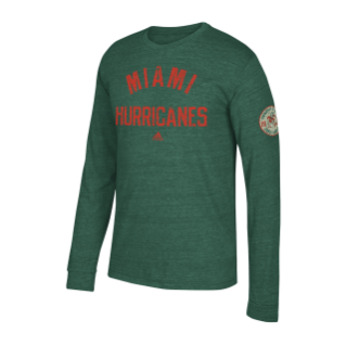 Miami Hurricanes adidas 2017 Men's It's All About The U Team Issued Sweatshirt Hoodie
