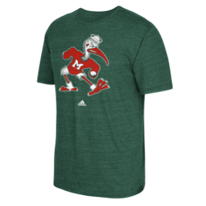 Miami Hurricanes adidas Men's Vintage Sebastian T-Shirt - Green