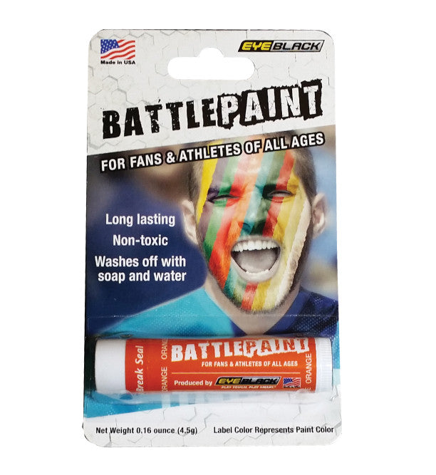 Orange Battle Paint by Eye Black - CanesWear at Miami FanWear Tailgate Gear Eye Black CanesWear at Miami FanWear