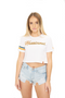 Miami Hurricanes INSZN Crop Top T-Shirt - White