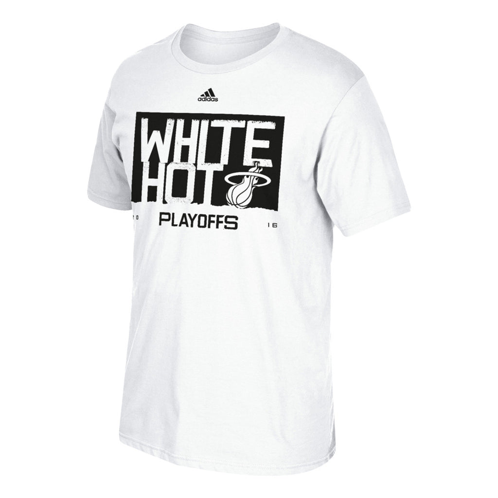 Miami Heat Playoff Tees - White Out - CanesWear at Miami FanWear Men's Apparel Adidas CanesWear at Miami FanWear