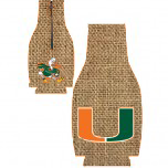 Miami Hurricanes Zipper Coozie - Burlap - CanesWear at Miami FanWear Tailgate Gear JayMac Sports CanesWear at Miami FanWear