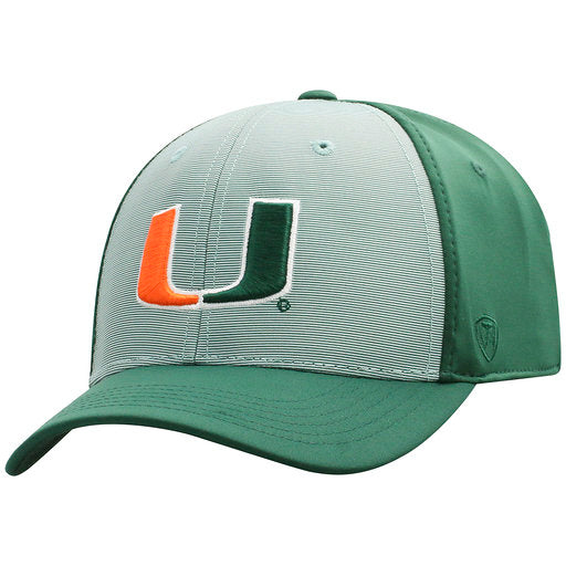 Miami Hurricanes Break - One Fit Two-Tone Green