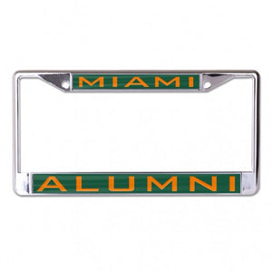 Miami Hurricanes Alumni License Plate Tag Frame