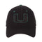 Miami Hurricanes Black Element II Stretch Hat