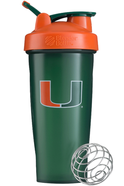 Miami Hurricanes 28 oz. Blender Bottle Classic - Green/Orange