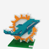 Miami Dolphins 3D Brxlz Construction Toy - Logo