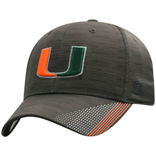 Miami Hurricanes Trace One Fit Black/Grey - Top of the World