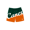 Miami Hurricanes Dyme Lyfe Canes Swim Trunks