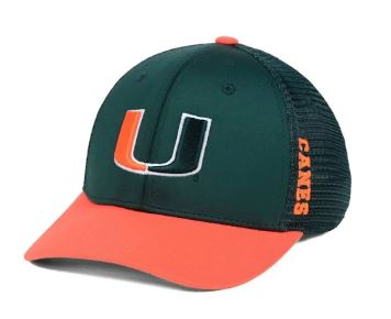 Miami Hurricanes Chatter Stretch Fitted Hat - Green/Orange