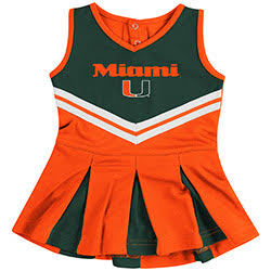Miami Hurricanes INFANT GIRLS POM POM CHEER SET