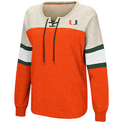 Miami Hurricanes WOMENS BECOME GREAT OVERSIZED LACE UP P/O
