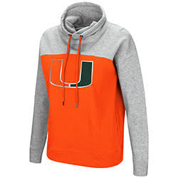 Miami Hurricanes WOMENS THE TALK L/S FUNNEL NECK PULLOVER