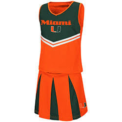 Miami Hurricanes GIRLS POM POM CHEER SET