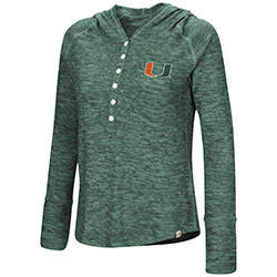 Miami Hurricanes WOMENS YOU COMPLETE ME HENLEY HOODIE