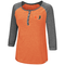 Miami Hurricanes WOMENS 8 POUND HENLEY - Orange/Heather Grey