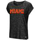 Miami Hurricanes WOMENS HERE IT IS CUFFED TEE - Heather Black
