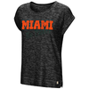 Miami Hurricanes WOMENS HERE IT IS CUFFED TEE