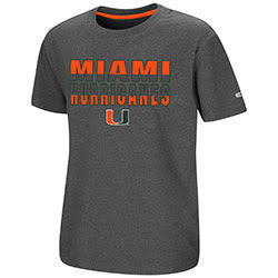 Miami Hurricanes YOUTH JUNIOR S/S TEE - HEATHER CHARCOAL