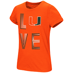 Miami Hurricanes GIRLS OWN THIS TOWN S/S TEE