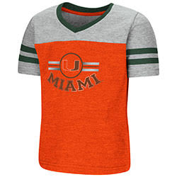 Miami Hurricanes TODDLER GIRLS PEE WEE FOOTBALL S/S TEE