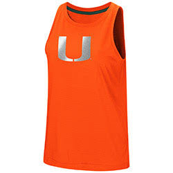 Miami Hurricanes WOMENS BET ON ME MUSCLE TANK