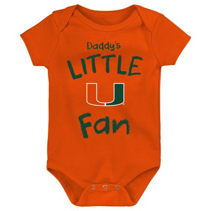 Miami Hurricanes Daddy's Little U Fan Creeper Onesie - Orange