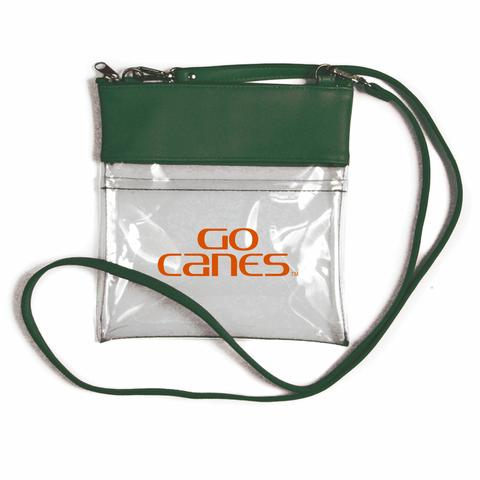 Miami Hurricanes Clear Gameday Crossbody Purse