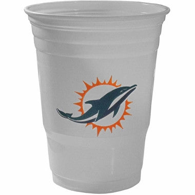 Miami Dolphins 18oz Disposable Plastic Cups - 18 Count - CanesWear at Miami FanWear Drinkware CanesWear at Miami FanWear CanesWear at Miami FanWear