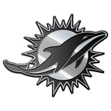 Miami Dolphins Auto Emblem-Silver - CanesWear at Miami FanWear Accesories Caseys CanesWear at Miami FanWear