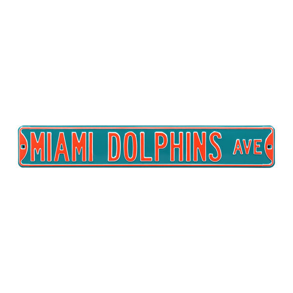 Miami Dolphins Ave Steel Street Sign