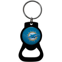 Miami Dolphins Black Bottle Opener Key Ring - CanesWear at Miami FanWear Accessories St Louis Wholesale CanesWear at Miami FanWear