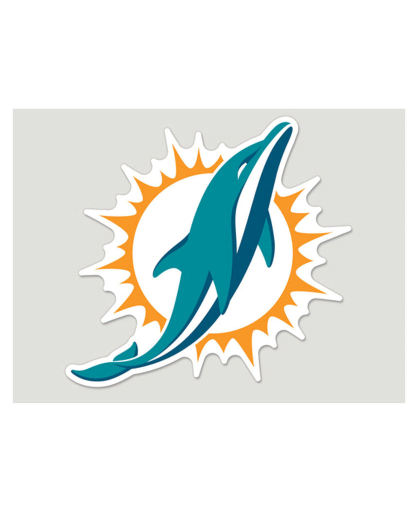 "Miami Dolphins Car Magnet - Logo 11"" - CanesWear at Miami FanWear Decals Turnovers CanesWear at Miami FanWear"