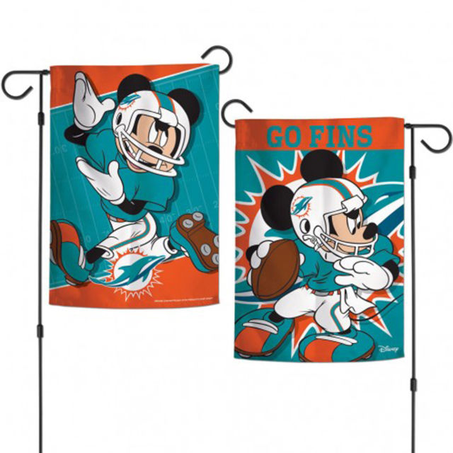 "Miami Dolphins Disney Mickey Mouse 12.5"" x 18"" Garden Flag"