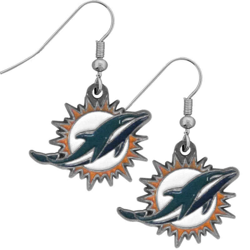Miami Dolphins Earrings - CanesWear at Miami FanWear Jewelry Casey's Distribution CanesWear at Miami FanWear