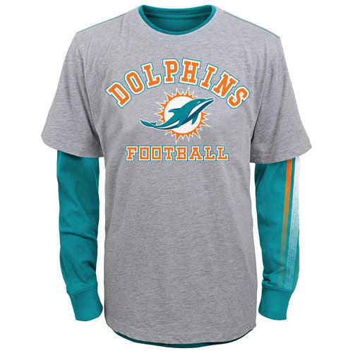 Miami Dolphins Toddler Classic Fade K14D0CN - CanesWear at Miami FanWear Infant Apparel Outer Stuff CanesWear at Miami FanWear