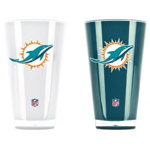 Miami Dolphins Insulated 20 oz Tumbler Set - CanesWear at Miami FanWear general Duck House CanesWear at Miami FanWear