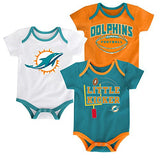 Miami Dolphins Little Kicker 3 Piece Bodysuit Set