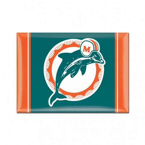 "Miami Dolphins Classic Logo Metal Magnet - 2.5"" X 3.5"""